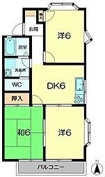 奈良県奈良市神功5丁目の賃貸アパートの間取り
