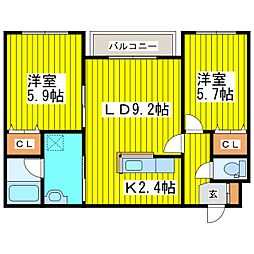 北海道札幌市東区北十七条東17丁目の賃貸マンションの間取り