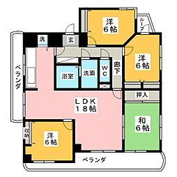 小林ファミリートラストハウス[8階]の間取り