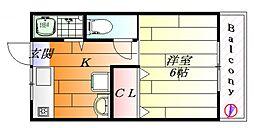 ポルベーラシュン[2階]の間取り