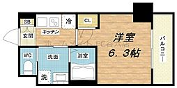 エステムコート梅田北IIゼニス[7階]の間取り