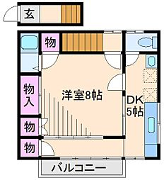 吉澤アパート[2階]の間取り