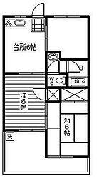 メゾンハマダA棟[201号室]の間取り