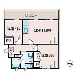 町田コープタウン8号棟[4階]の間取り