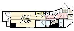 GRAN PASEO麻布十番 11階1Kの間取り