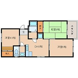 静岡県静岡市清水区駒越中の賃貸マンションの間取り