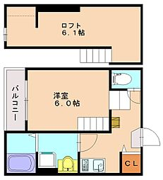 アモローソ井尻[2階]の間取り