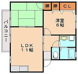 サンクス8[2階]の間取り