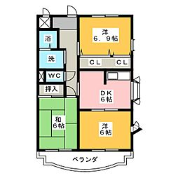 POLESTAR 3rd STAGE[3階]の間取り