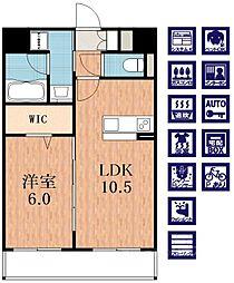 Jowa天王寺[1階]の間取り