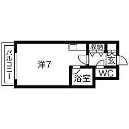 ジョイフル札幌[5階]の間取り