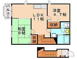 平田台アネックス[2階]の間取り