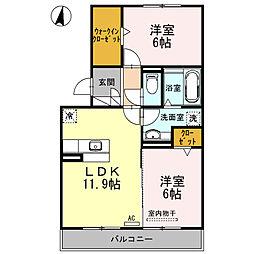 レジェンドA[3階]の間取り