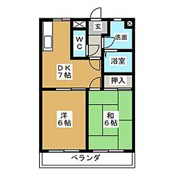 メイフラワー110[1階]の間取り