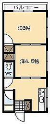 サンマンション[B3号室]の間取り
