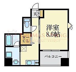 D-room gracious平尾 8階1Kの間取り