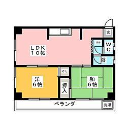 第二宮田ビル[2階]の間取り