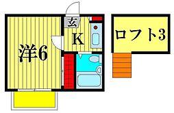 北松戸第8レジデンス[2階]の間取り