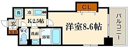 Luxe玉造II[2階]の間取り
