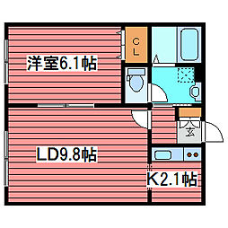 IDEAL FUKUZUMI[4階]の間取り