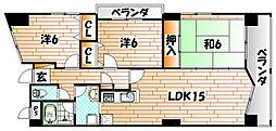 セカンド・レオ守恒[4階]の間取り