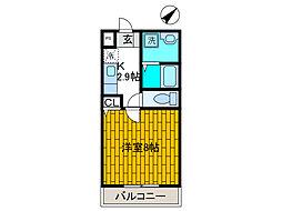 キャトルグランシャ[3階]の間取り