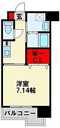 (仮称)折尾4丁目賃貸マンション 3階1Kの間取り