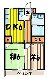 レジデンスアライII[2階]の間取り