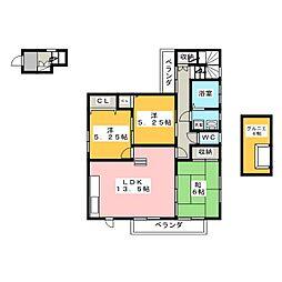 Maison du Soleil 2階3LDKの間取り
