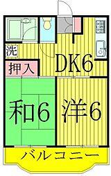 ガーデンビレッヂ[3階]の間取り