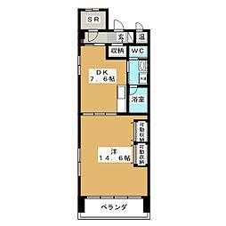 GOマンション[6階]の間取り