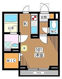 埼玉県さいたま市浦和区元町1丁目の賃貸マンションの間取り