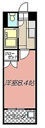 アリビオ黒崎[707号室]の間取り