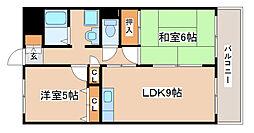 兵庫県神戸市西区伊川谷町潤和1丁目の賃貸マンションの間取り