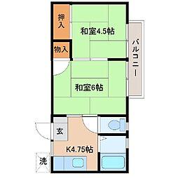 バウハウス太田駅北口[202号室]の間取り