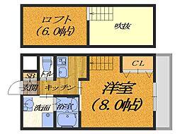 大阪府堺市堺区南旅篭町東2丁の賃貸マンションの間取り