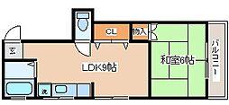 兵庫県神戸市長田区苅藻通7の賃貸マンションの間取り