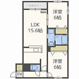 リデーレ裏参道[4階]の間取り