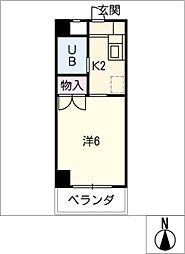 安田学研会館南・北棟[2階]の間取り