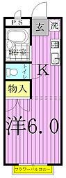 メゾン沢II[201号室]の間取り