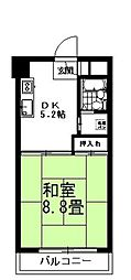 アバンセ福岡第一ハイツ[206号室]の間取り