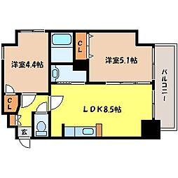 北海道札幌市中央区北七条西12丁目の賃貸マンションの間取り