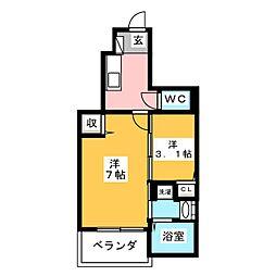 アジュール モナ I[1階]の間取り