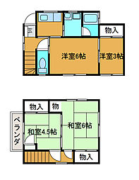 [一戸建] 東京都町田市金森3丁目 の賃貸【/】の間取り