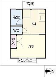 シティハイムAKANAT[2階]の間取り