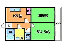 長田グリーンビル[2階]の間取り