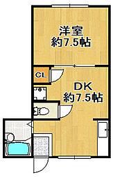 小林西マンション[3階]の間取り