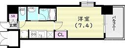 スプランディッド尼崎駅前I 6階1Kの間取り