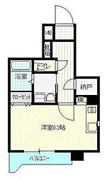 高松琴平電気鉄道志度線 今橋駅 徒歩5分の賃貸マンション 4階1Kの間取り
