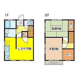 広島県東広島市西条町西条の賃貸アパートの間取り
